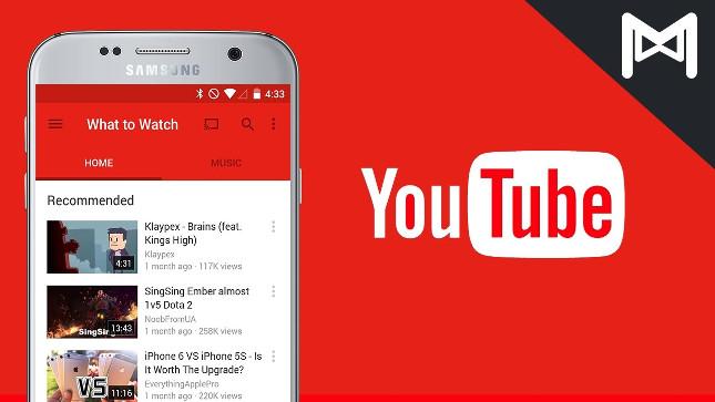 Youtube actualiza su aplicación para los sistemas iOS y Android