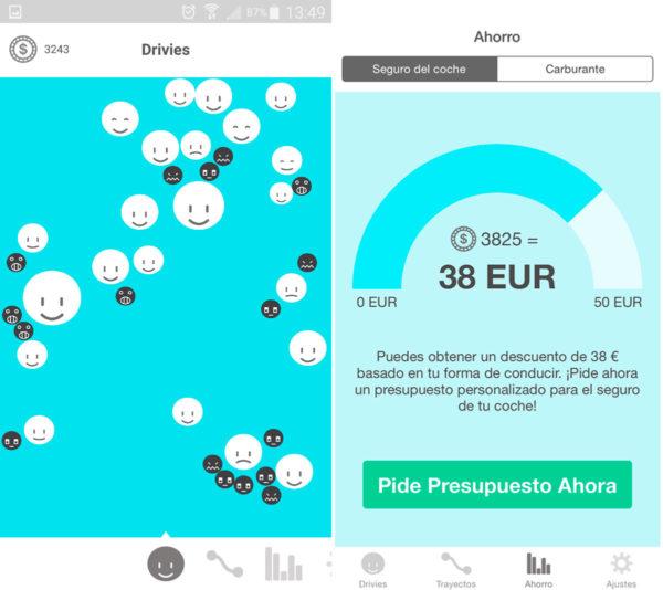 Drivies, app conducción