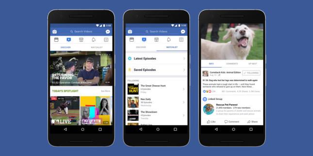 Facebook presenta Watch