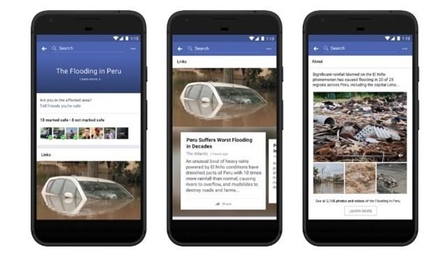 Facebook: Centro de Respuestas a las Crisis