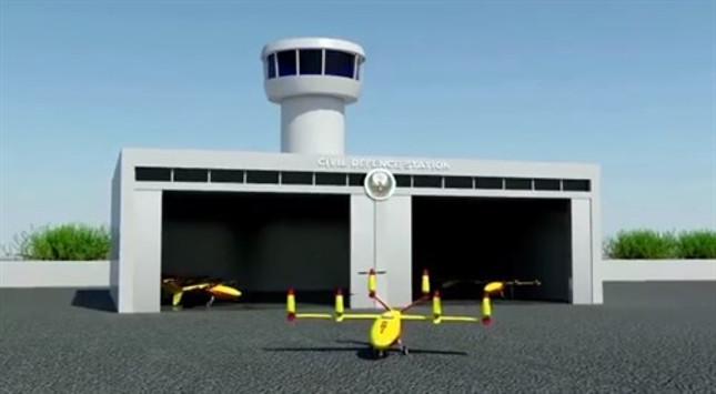 Protección Civil de Dubái presenta proyecto de drones antiincendios