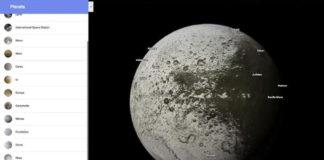 Google Maps añade mapas de planetas y satélites del sistema solar