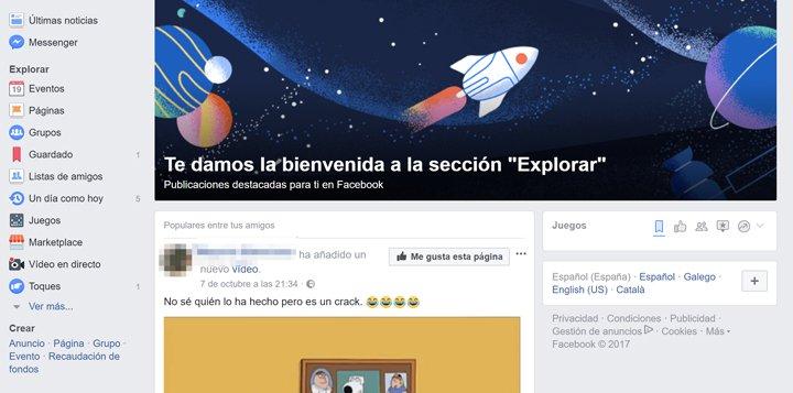 Facebook anuncia el lanzamiento de Explorar