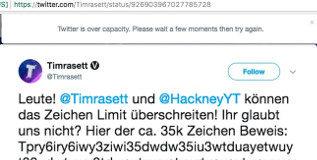 Dos usuarios alemanes logran publicar un tuit con 35.000 caracteres