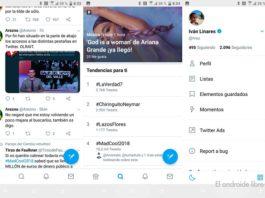 Twitter añade un nuevo menú en su versión Android