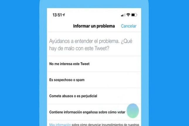 Twitter autoriza denuncias a noticias falsas sobre elecciones europeas
