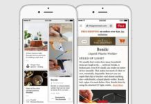 Sección de shopping en Pinterest Partners