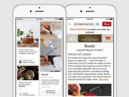 Sección de shopping en Pinterest Partners