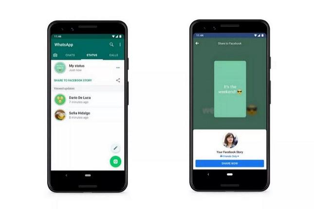 WhatsApp compartirá estados en otras aplicaciones