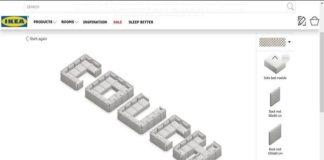Ikea diseña fuente gratuita para escribir palabras con sus sofás