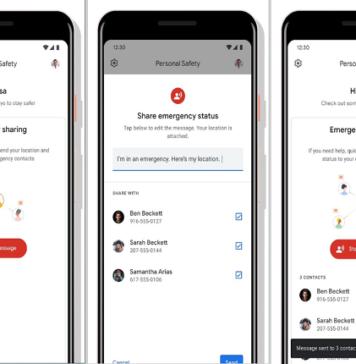 Aplicación Seguridad Personal localiza accidentes de coche en smartphones Pixel