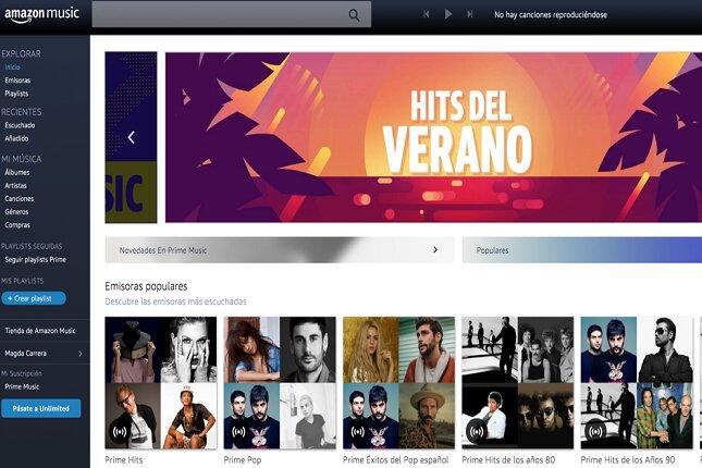 Amazon Music amplía el acceso de su servicio gratuito a playlists y emisoras