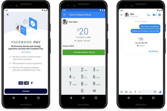 Facebook Pay llega a Estados Unidos facilitando el pago entre sus diferentes plataformas