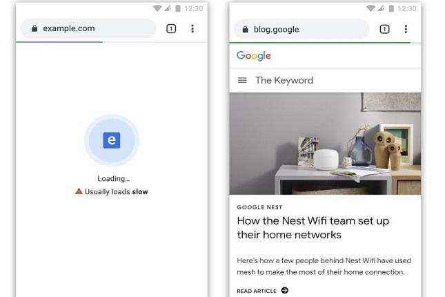 Google Chrome barra de carga
