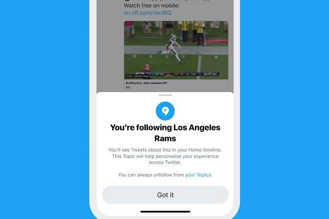 Twitter añade la sección Topics para seguir conversaciones con un solo clic