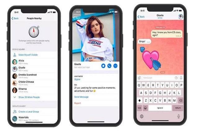 Telegram ahora permite ver los perfiles de personas cercanas a la localización