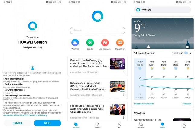 Huawei testa su app Search para la descarga de aplicaciones fuera de Play Store