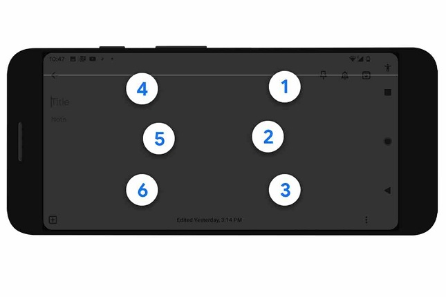 Android lanza su teclado braille TalkBack para dispositivos móviles