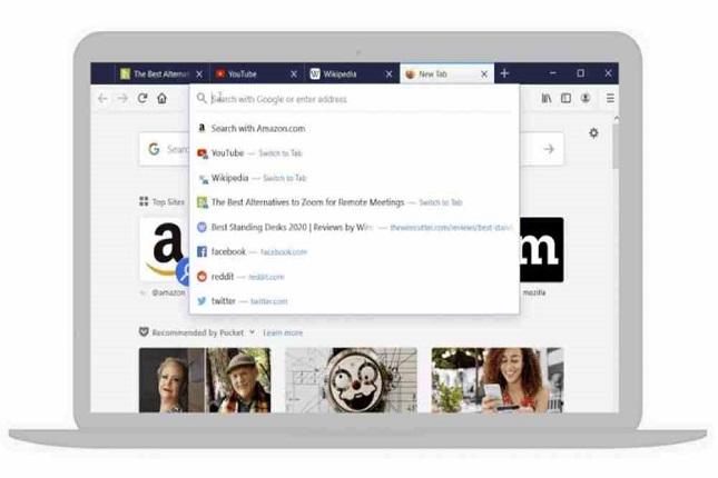 Firefox 75 actualiza su barra de dirección con búsqueda inteligente