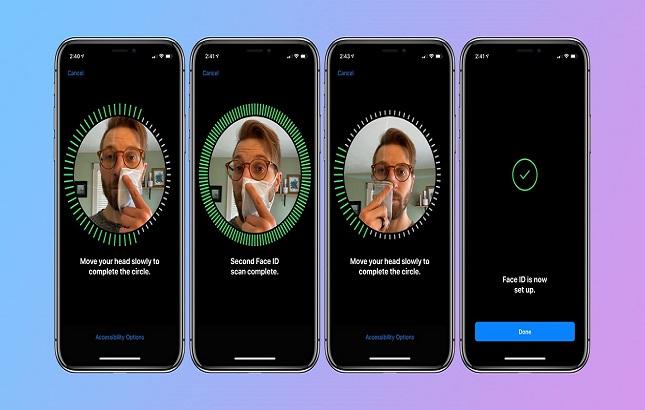 La versión iOS 13.5 de Apple ya desbloquea el móvil aunque lleves mascarilla
