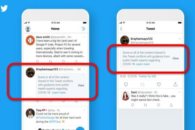 Twitter diseña nuevas etiquetas