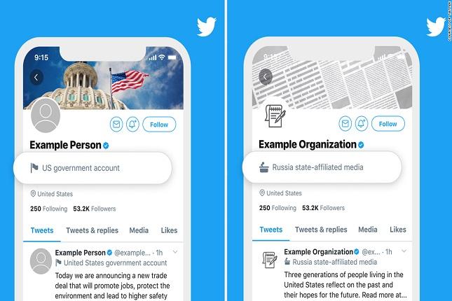 Twitter clasificará con etiquetas las cuentas de medios estatales