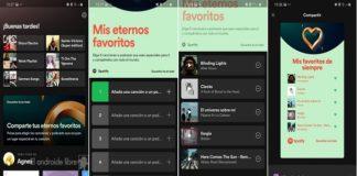 Comparte tu contenido favorito con Mis eternos favoritos de Spotify