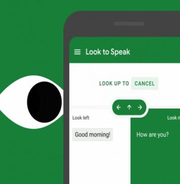 Google presenta Look to Speak, una app que permite comunicarse con los ojos