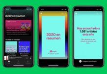 Spotify presenta las tarjetas personalizadas 2020 en resumen