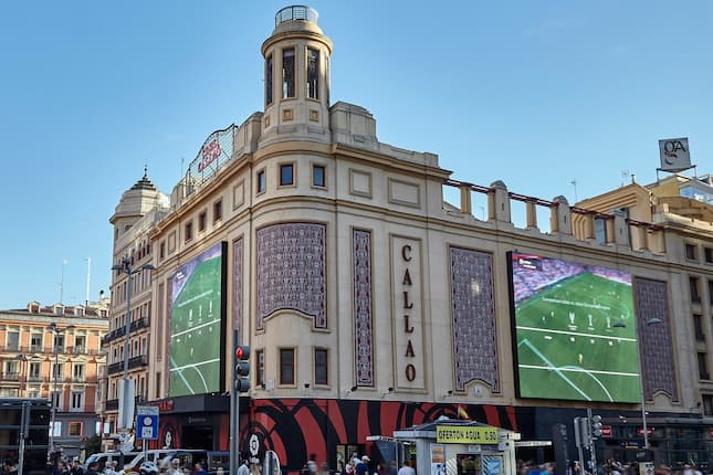 Aumentan un 132% los impactos de las pantallas de Callao City Lights de Madrid