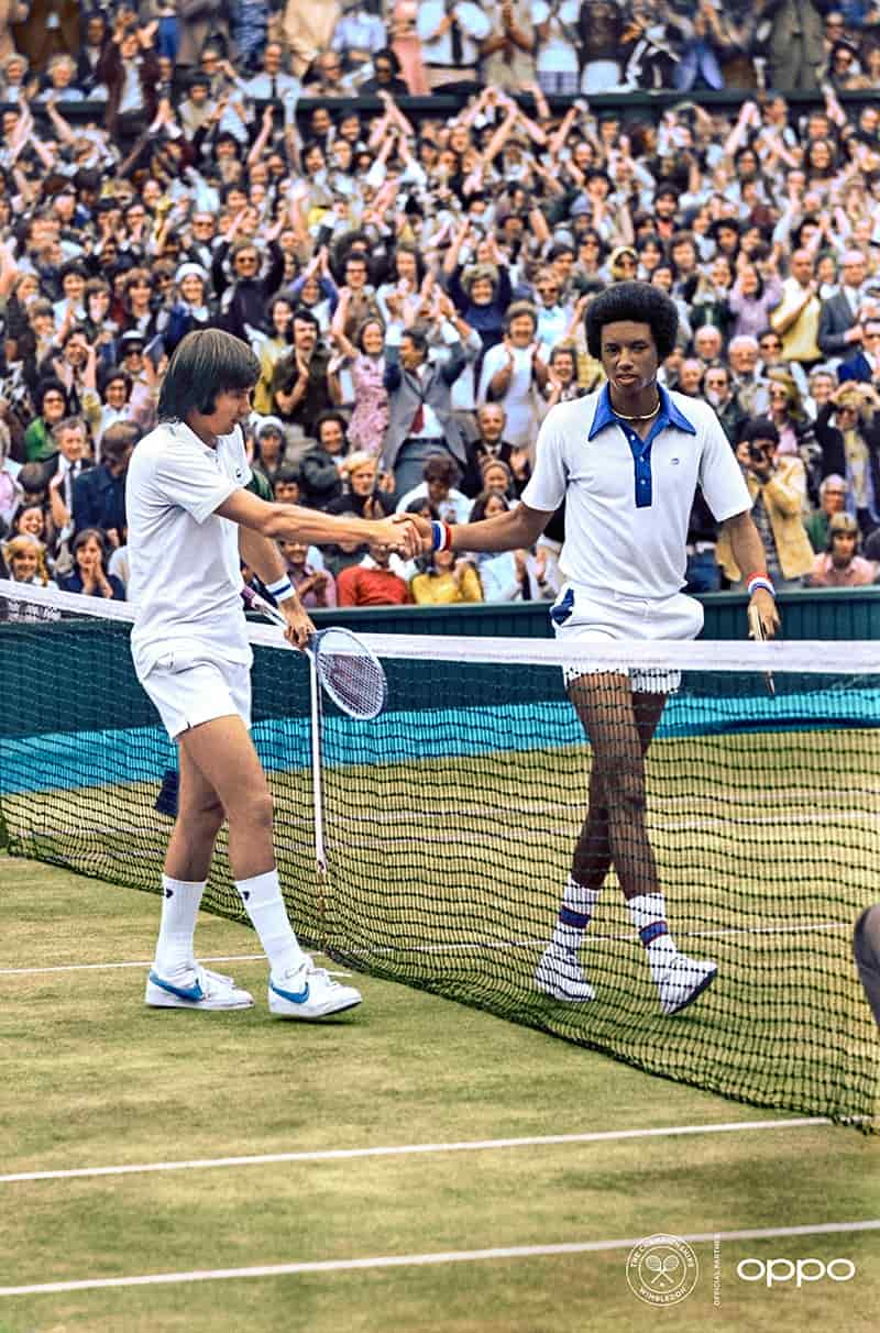 Jimmy Connors y Arthur Ashe