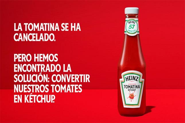 Heinz apoya la agricultura española con la edición especial Tomatina Ketchup