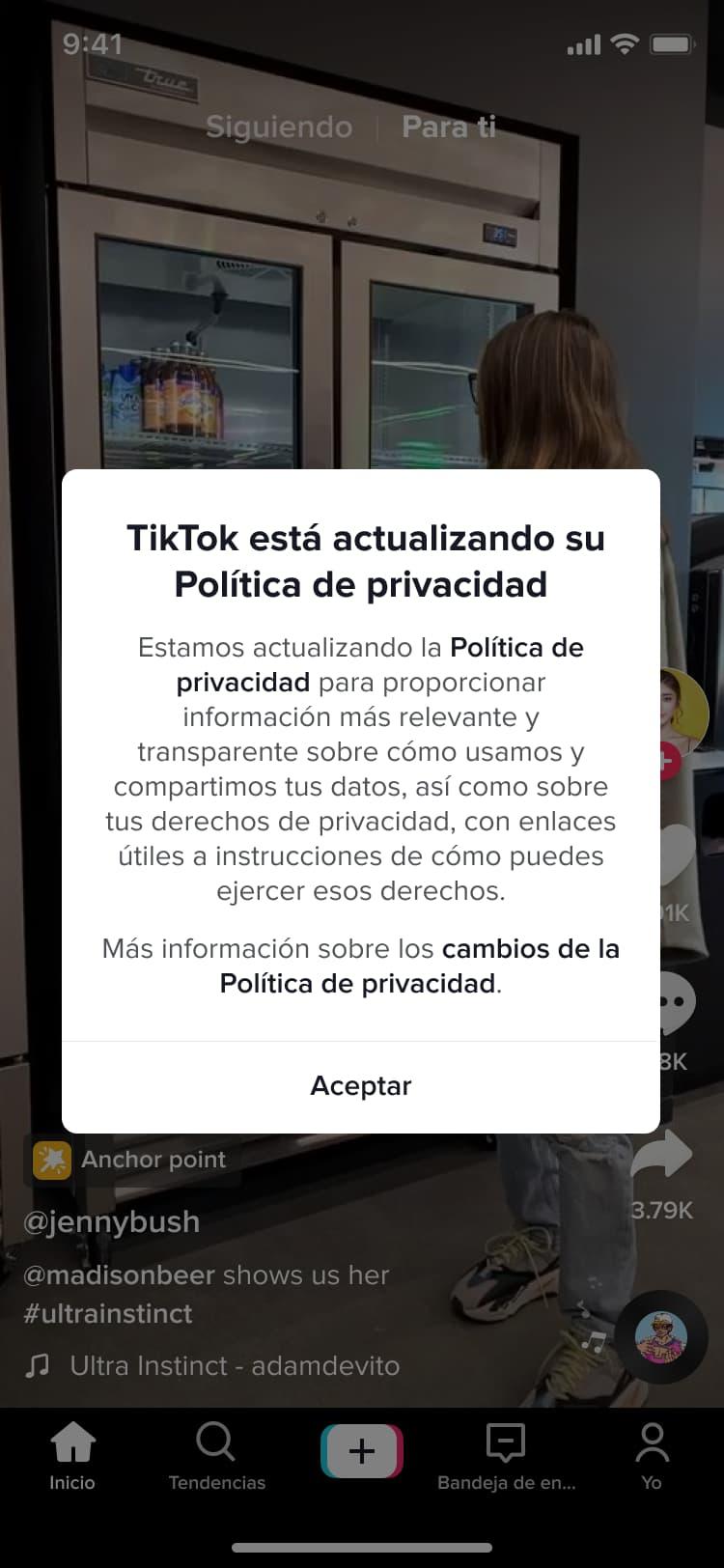 TikTok privacidad