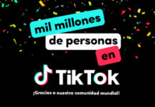 1.000 millones de personas TikTok