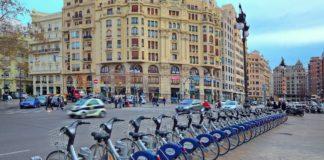 Valenbisi, perteneciente a JCDecaux, patrocinador de la Semana Europea de la Movilidad de Valencia