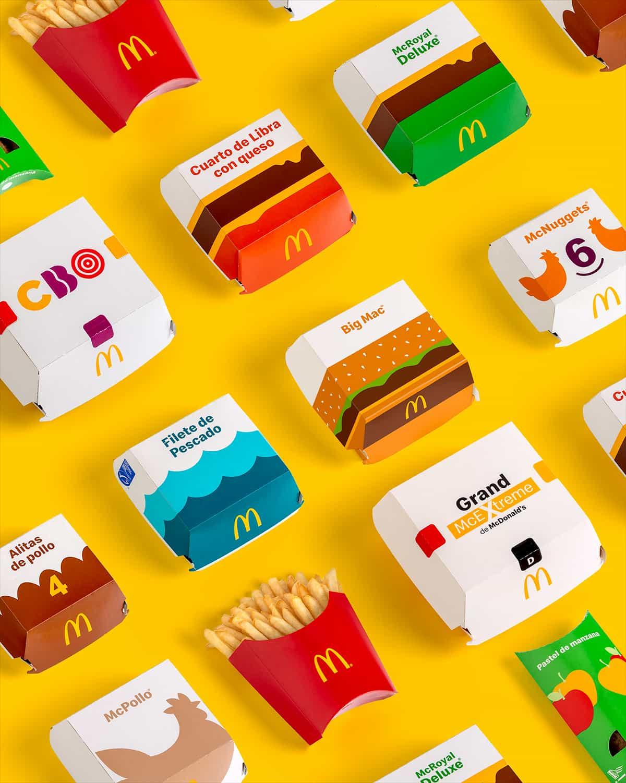 packaging cajas mcdonalds